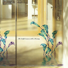 Window Fridge Decal Calla Lily Flower Wall Glass Sticker Vinyl Art Home Decor