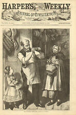 General Store, The Doubtful Bank Note, Counterfit Money, 1873 Antique Print