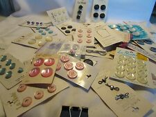 VINTAGE Lot Mother of Pearl Buttons over 30 Original Cards LA MODE And Others