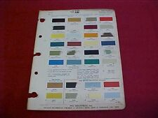 1969 1970 FORD FAIRLANE MUSTANG MAVERICK CAR COLOR PAINT CHIP CHART BROCHURE 70
