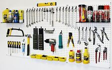 WallPeg Pro Kit - Pegboard Shelves, Plastic Bins, Locking Peg Hooks Tool Storage