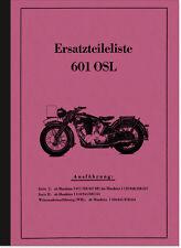 NSU 601 OSL Serie 1 2 WH 1939 Ersatzteilliste Ersatzteilkatalog Teilekatalog