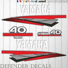 Yamaha 40 HP Two 2 Stroke outboard engine sticker decal kit reproduction 40HP