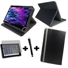Tablet Hülle Medion S10352 25,7cm  Schutz Tasche + Folie -3in1 10.1 Zoll Schwarz