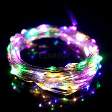 5M/10M/20M/30M/50M Silver/Copper Wire Fairy String Lights Lamp DC /Remote/Power