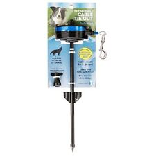 Howard Pet Retractable Cable Tie Out Stake for Dogs Medium