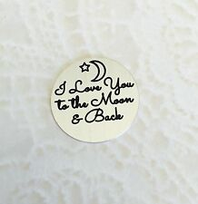 I love you to the moon & back Plate for Large Round Locket - Stainless Steel