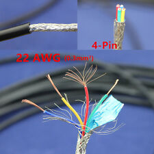 5M Copper Electrical cable Wire 4 Pin 22 AWG Anti-interference shielded Signal