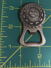 Bigfoot Country Metal Bottle opener w/ magnet on back & Pewter Emblem, unique!