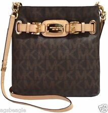 Michael Kors Bag 35F2GHMC3B MK Hamilton Large Crossbody Bag Signature PVC Brown