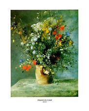 Renoir: Flowers in a Vase - 8x10 In. Art Poster Repro.