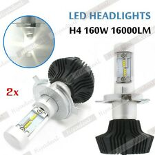 2pcs Philips LED Chips 160W 16000LM H4 9003 HB2 Headlight Kit H/L Beam Bulbs ACR