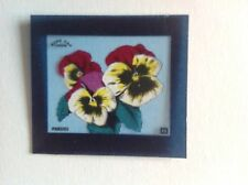 VINTAGE BLUE CAP CHEESE FLIXIES (TRANSPARENCY) TRADE CARD FLOWER SERIES PANSIES