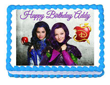 Disney Descendants Mal and Evie party edible image cake topper frosting sheet