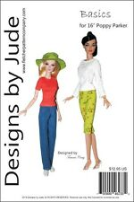 """Basics Doll Clothes Sewing  Pattern for 16"""" Poppy Parker & Tullabelle Integrity"""