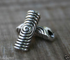 4 TIBETAN Style Silver Swirl DREADLOCK BEADS 5mm Hole DREAD *NEW* Hair Beads