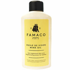 Famaco Mink Oil 125ml Deep Nourishing Oil For Leather Boots, Shoes & Bags