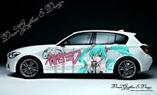 Set Anime Girl Full Color Graphics Adhesive Vinyl Sticker Fit any Car Side #033