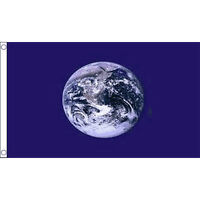 Planet Earth Flag 5Ft X 3Ft World Globe Planet Banner With 2 Eyelets New