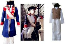 APH Hetalia Axis powers Prussia Cosplay Costume + Wig