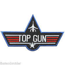 TOP GUN US Navy Star Pilot Air Force Attack Fighter Weapons Iron On Patch #P024