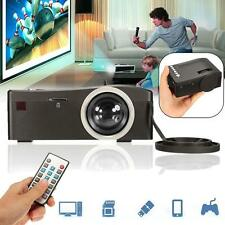 Full HD 1080P Home Theater LED Multimedia Projector Cinema TV HDMI Black US MT