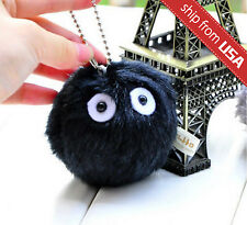 My Neighbor Totoro Dust Bunny Studio Ghibli Plush Black Soot Sprite Charm chain