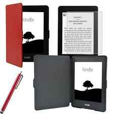 Tasche Cover f. Kindle Paperwhite Touch Hülle Bookstyle Case Wake/Sleep Pen Rot