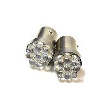 2x White 9-LED [BAY15D,380,1157,P21/5w] 12v Light Bulbs