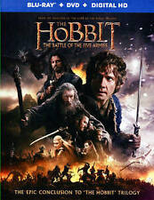The Hobbit: The Battle of the Five Armies (Blu-ray/DVD, 2015, 2-Disc Set, Inclu…