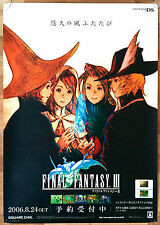 Final Fantasy III 3 RARE NDS 51.5 cm x 73 cm Japanese Promo Poster #1
