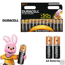 Duracell MN1500B12 Plus Power AA Size Batteries Alkaline Pack of 12 10 NEW
