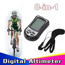8 In 1 Digital LCD Compass Altimeter Barometer Thermo Temperature for Hiking