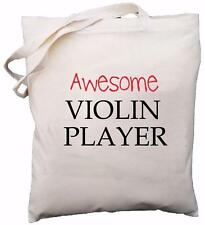 Awesome Violin Player - Natural Cotton Shoulder Bag - Gift