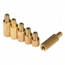 M2*3+3mm Knurled Brass Spacer Motherboard Standoff Female-Male Screws QTY 40