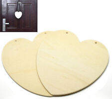 Paint your own House Home Door Hanging Heart Wooden Tags Plaque DIY - 2 pcs
