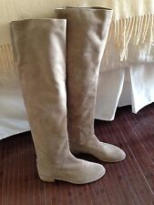 Stuart Weitzman Rocker Chic Over The Knee Taupe Suede Boots Sz. 10 M