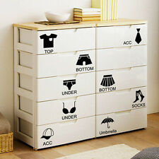 For Shoes Clothes Storage Cabinet Wardrobe Closet Bedroom Removable Stickers