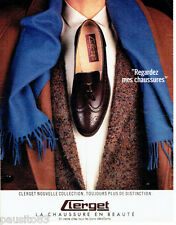 PUBLICITE ADVERTISING 016  1985  Clerget  chaussures homme