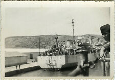 PHOTO ANCIENNE - VINTAGE SNAPSHOT - MILITAIRE NAVIRE BATEAU MARINE-MILITARY BOAT