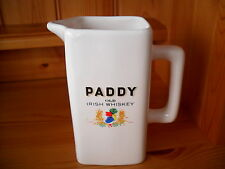 PADDY IRISH  WHISKY WATER JUG UNUSED