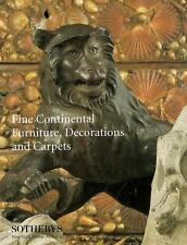 Sotheby's Fine Continental Furniture Decorations Auction Catalog 1996