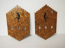 KOKOPELLI WITH flute - HOME WALL DECOR 3 OUTLET COVER lot of two