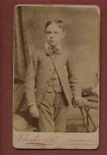 London. Stamford Hill. Clerke & Co. Boy. CDV  photograph qe379