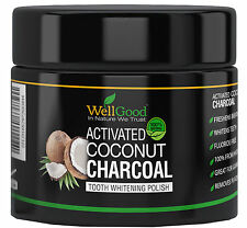 Activated Coconut Charcoal Teeth Whitening Powder with Turmeric by WellGood
