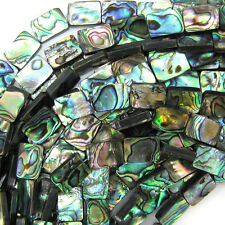 "14mm abalone shell rectangle beads 16"" strand"