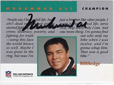 "1992 PRO LINE NFL FOOTBALL AUTOGRAPH: MUHAMMAD ALI - ON CARD AUTO ""THE GREATEST"""