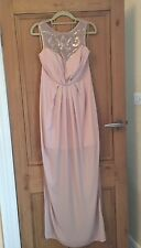 Lipsy London Pink Embellished Maxi Dress Size 10 BNWT RRP £75