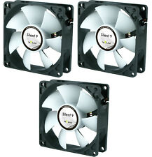 3 x GELID Solutions Silent 9 90mm Case Fans 1500 RPM, 31.3 CFM, 20.0 dBA