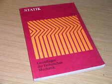 STATIK Grundlagen Technische Mechanik / mit Aufgaben & Lösungen Übungsbuch